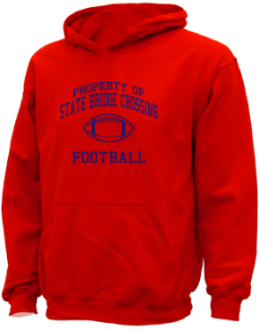 State Bridge Crossing Elementary School Kid Hooded Sweatshirts