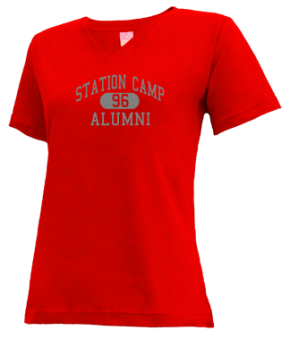 Station Camp High School V-neck Shirts