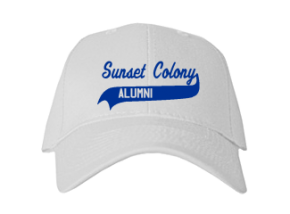 Sunset Colony School Embroidered Baseball Caps