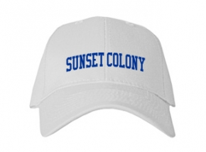 Sunset Colony School Kid Embroidered Baseball Caps