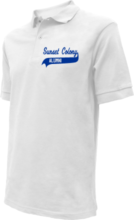 Sunset Colony School Embroidered Polo Shirts