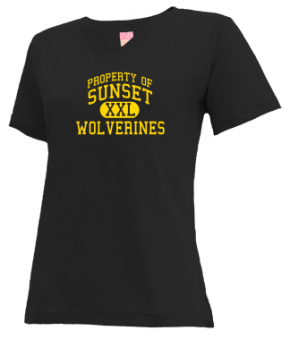 Sunset Elementary School V-neck Shirts