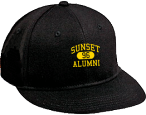 Sunset Elementary School Flat Visor Caps