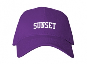 Sunset High School Kid Embroidered Baseball Caps