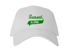 Sunset Middle School Embroidered Baseball Caps