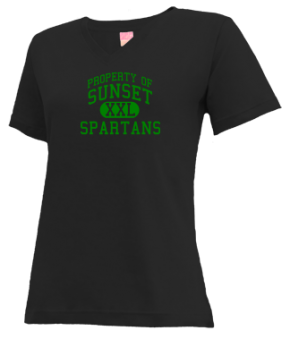 Sunset Middle School V-neck Shirts