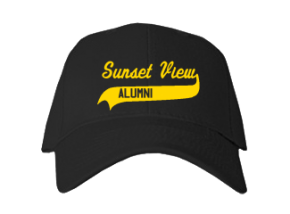 Sunset View Elementary School Embroidered Baseball Caps