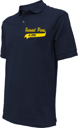 Sunset View Elementary School Embroidered Polo Shirts