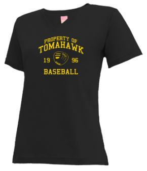 Tomahawk High School V-neck Shirts