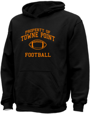 Towne Point Elementary School Kid Hooded Sweatshirts