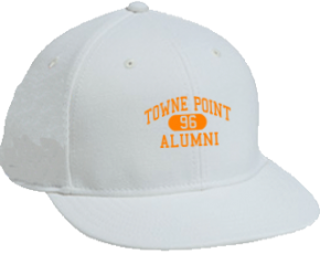 Towne Point Elementary School Flat Visor Caps