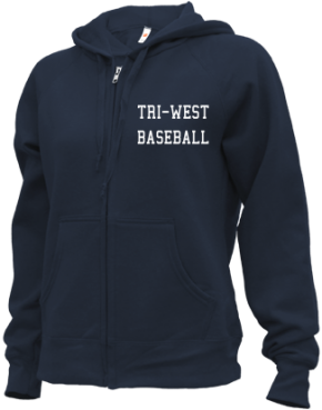 Tri-west High School Zip-up Hoodies