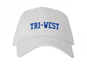 Tri-west High School Kid Embroidered Baseball Caps
