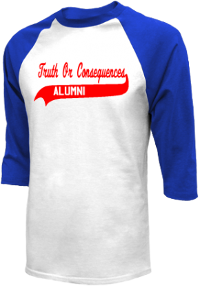Truth Or Consequences Middle School Raglan Shirts