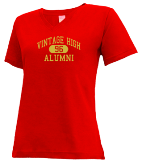 Vintage High School V-neck Shirts