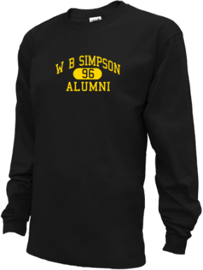 W B Simpson Elementary School Long Sleeve Shirts