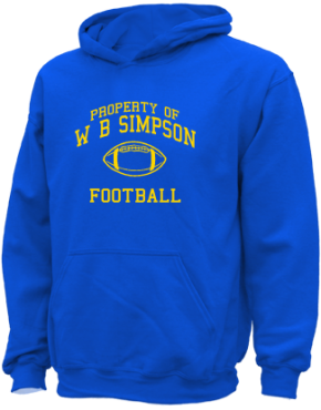 W B Simpson Elementary School Kid Hooded Sweatshirts