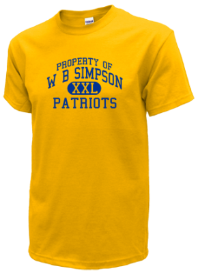 W B Simpson Elementary School Kid T-Shirts