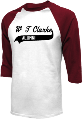 W T Clarke Middle School Raglan Shirts