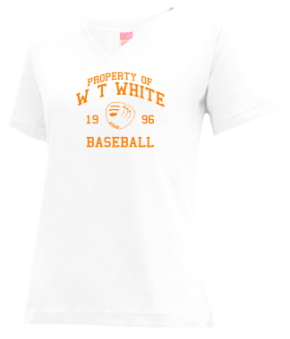 W T White High School V-neck Shirts