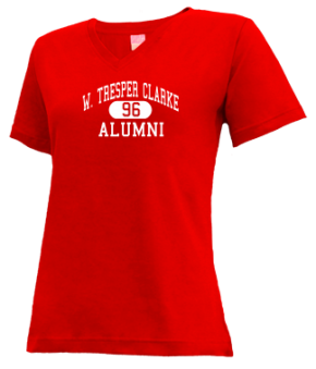 W. Tresper Clarke High School V-neck Shirts