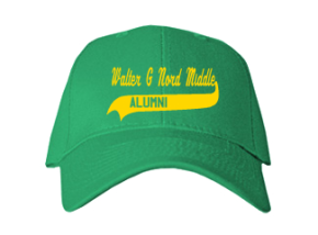 Walter G Nord Middle School Embroidered Baseball Caps