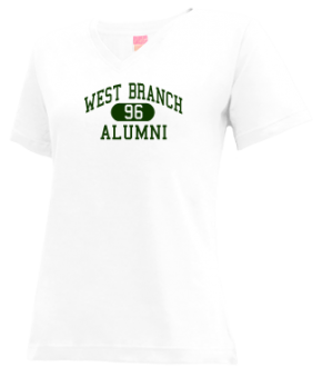 West Branch High School V-neck Shirts