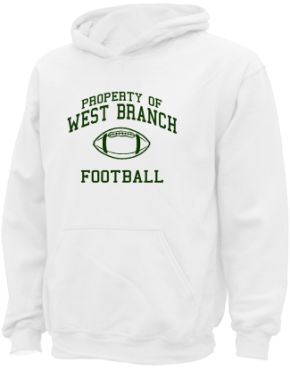 West Branch High School Kid Hooded Sweatshirts