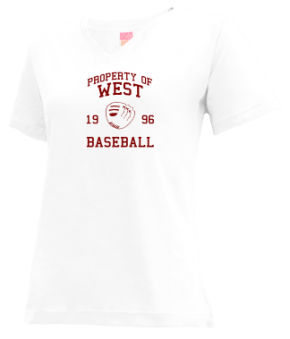 West High School V-neck Shirts