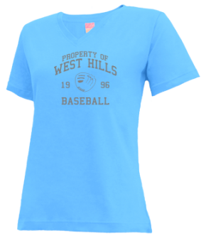 West Hills High School V-neck Shirts