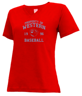 Western High School V-neck Shirts