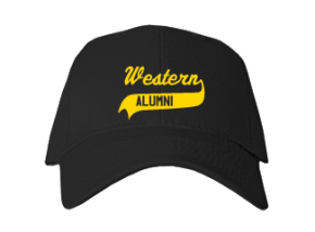 Western Middle School Embroidered Baseball Caps