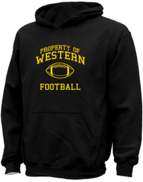 Western Middle School Kid Hooded Sweatshirts