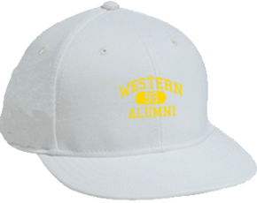 Western Middle School Flat Visor Caps