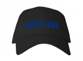 White Cone High School Kid Embroidered Baseball Caps