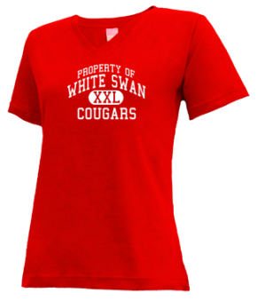 White Swan High School V-neck Shirts