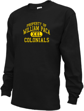 William Paca Middle School Kid Long Sleeve Shirts