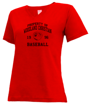 Woodland Christian School V-neck Shirts