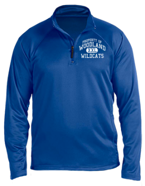 Woodland Middle School Stretch Tech-Shell Compass Quarter Zip