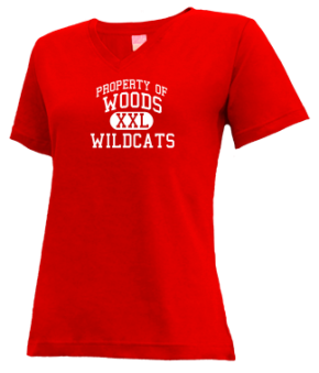 Woods Elementary School V-neck Shirts