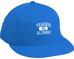 Yeager Middle School Flat Visor Caps